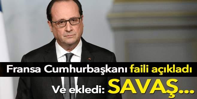 Fransa Cumhurbaşkanı Hollande: Saldırıları IŞİD düzenledi