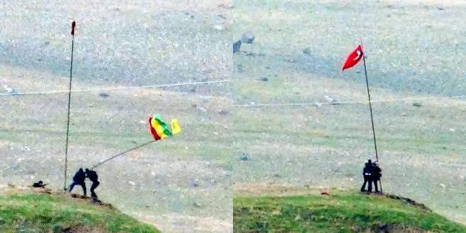 Cizre'de silah sesleri altında bayrak operasyonu