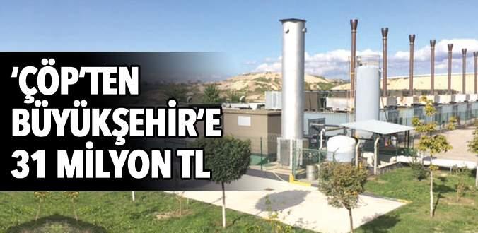 ÇÖP enerjisinden Büyükşehir'e 3 yılda 31 milyon TL'lik gelir