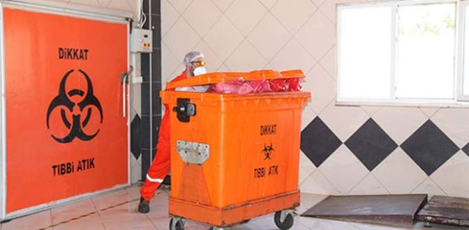 74 bin 500 ton tıbbi atık topladı