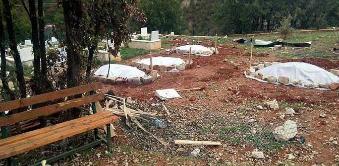 Terörist cenazeleri gizlice gömülmüş
