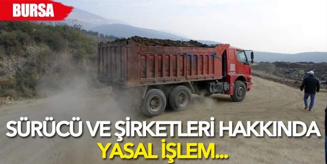 Bursa'da kamyonlara sıkı takip