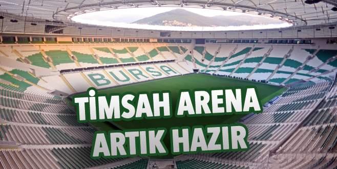 Timsah Arena artık hazır