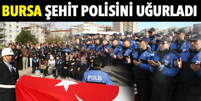 Şehit polis memuruna hazin uğurlama