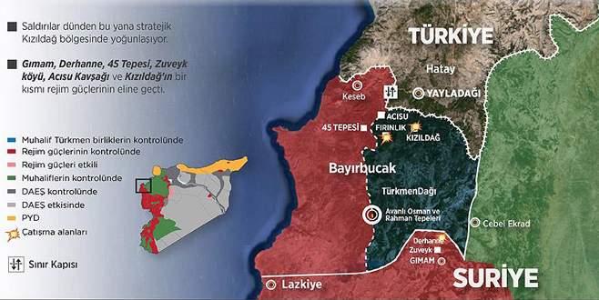 Türkmenlerin Esad güçlerine direnişi sürüyor