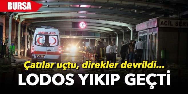 Bursa'da lodos yıkıp geçti