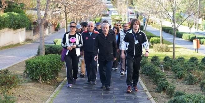 Nilüferliler sağlık için yürüyor