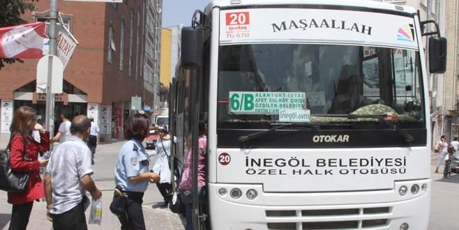 İnegol'de 900 bin kişi ücretsiz taşındı