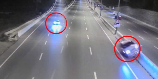 Bursa'daki trafik kazası kamerada