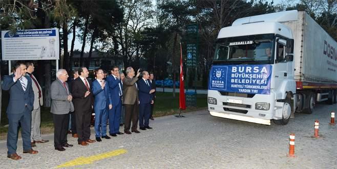 Bursa'dan Bayırbucak Türkmenlerine soba yardımı