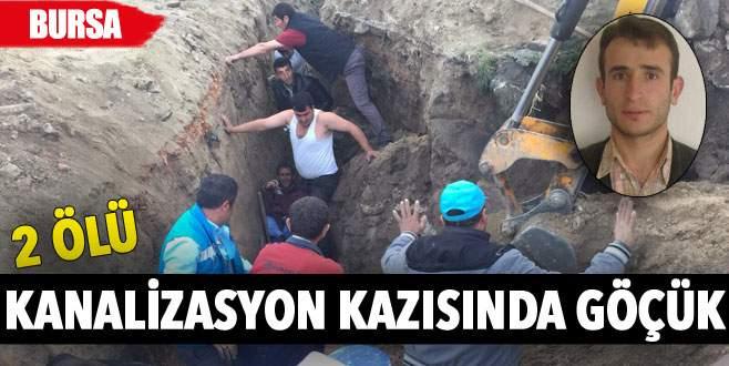 Kanalizasyon kazısında göçük: 2 ölü