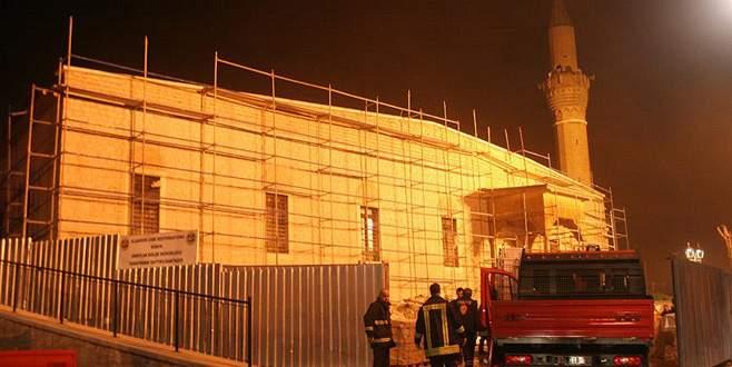 Konya'da tarihi camide yangın