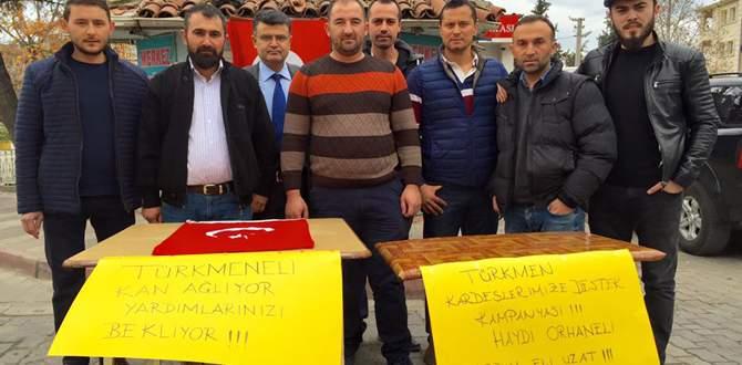 Orhaneli'nden Türkmenlere yardım eli