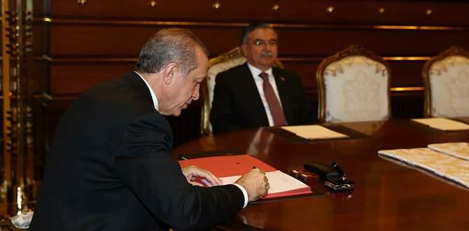 Cumhurbaşkanı Erdoğan YAŞ'ta alınan kararları onayladı
