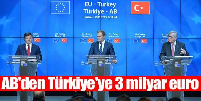 AB'den Türkiye'ye 3 milyar euro
