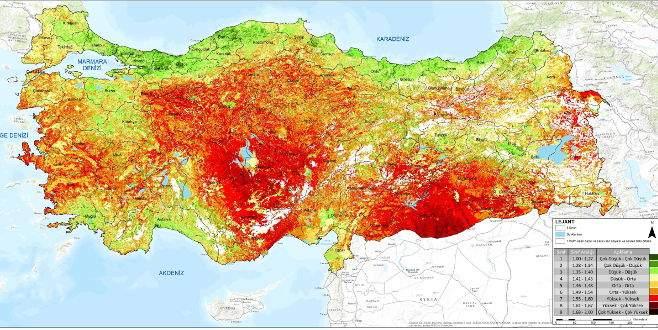 Türkiye'nin 'Çölleşme Risk Haritası' çıkarıldı