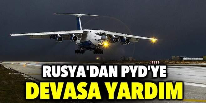 Rusya PYD'ye 5 ton silah attı