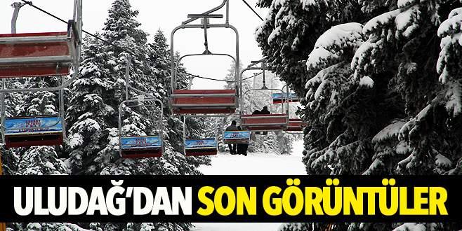 Uludağ'a kar yağdı, işletmeciler yeni sezondan ümitli