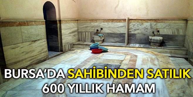 Sahibinden satılık 600 yıllık hamam