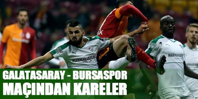 Galatasaray – Bursaspor maçından kareler