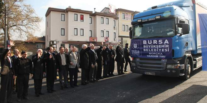 Bursa'dan Borçka'ya büyük destek