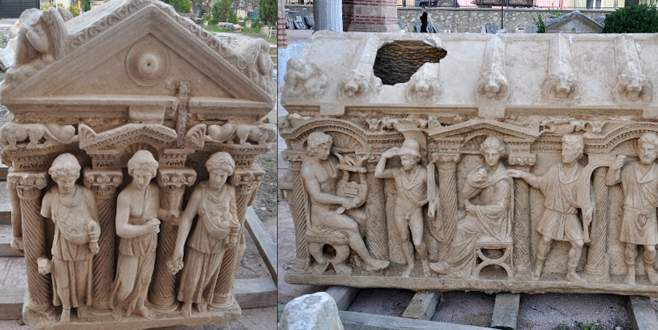 İznik'te bulunan lahidin fotoğrafı bakanlık sitesinde