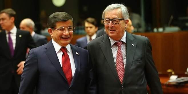 Juncker'den Davutoğlu'na mektup