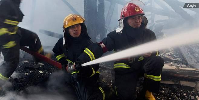 Çin'de otel yangını 4 can aldı