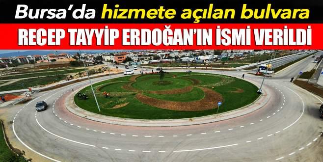 Recep Tayyip Erdoğan ismi bulvara verildi