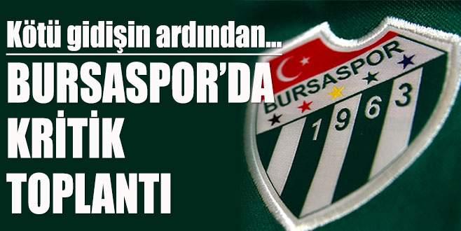 Bursaspor'da kritik Yönetim Kurulu toplantısı…