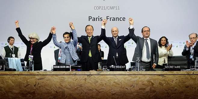 İklim değişikliğini önleyecek Paris Anlaşması kabul edildi