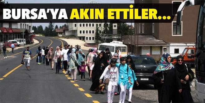 Arap turistler Bursa'yı 'mesken' tuttu