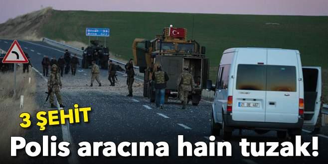 Polis aracına hain tuzak: 3 şehit