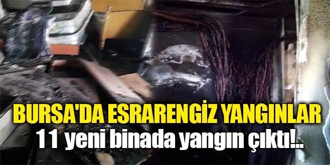 Bursa'da esrarengiz yangınlar