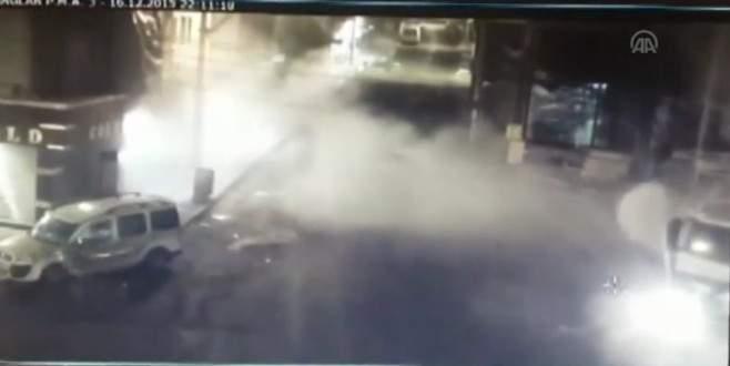 Diyarbakır'da polis aracına el yapımı patlayıcı atıldı