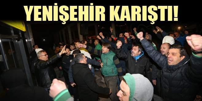Yenişehir karıştı! Bursaspor taraftarından yönetime ve futbolculara tepki