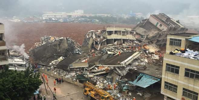 Çin'in güneyinde heyelan 18 binayı yuttu