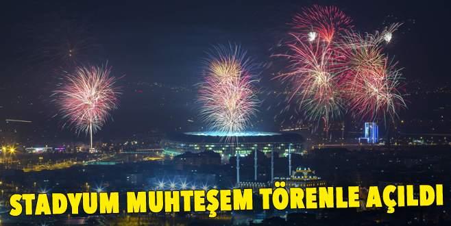 Bursa Büyükşehir Stadyumu açıldı