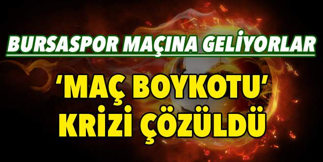 Mersin'de kriz aşıldı! Bursaspor maçına geliyorlar!