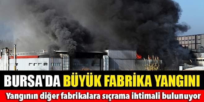 Bursa'da büyük fabrika yangını