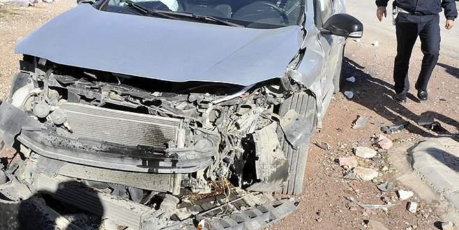 Araçtan fırlayan LPG tankı mucize eseri alev almadı