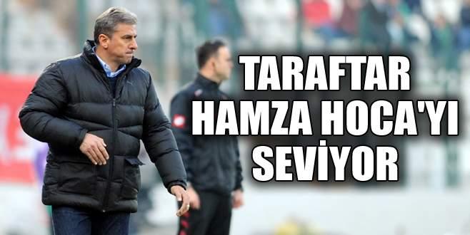 Taraftar Hamza Hoca'yı seviyor