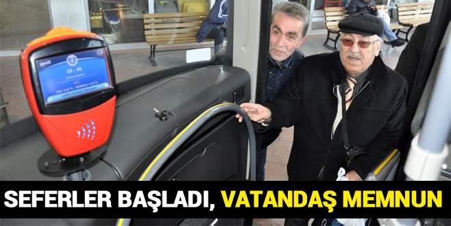 Sarı otobüsler İnegöl-Bursa seferlerine başladı