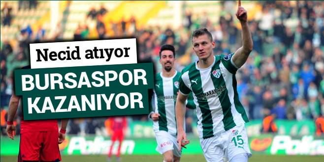 Necid atıyor, Bursaspor kazanıyor