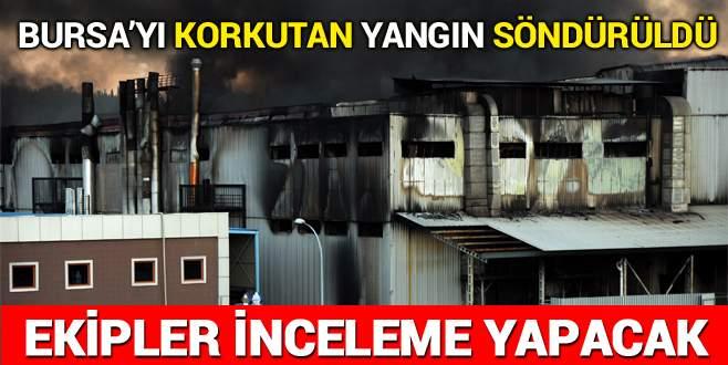 Bursa'da iplik fabrikasındaki yangın söndürüldü