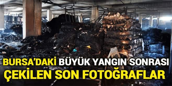 Bursa'da yangın sonrası çekilen son fotoğraflar