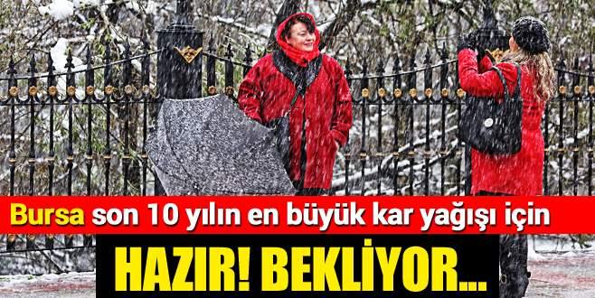 Bursa kar yağışı için hazır
