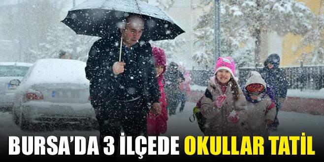 Bursa'da 3 ilçede okullar tatil