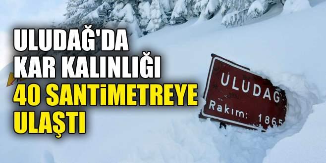 Uludağ'da kar kalınlığı 40 santimetreye ulaştı