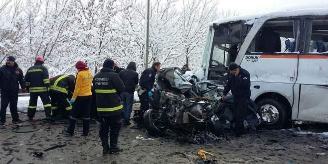 13 araç birbirine girdi! 1 ölü, 30 yaralı